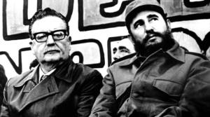 Salvador Allende e Fidel Castro