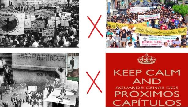 Marcha da Família com Deus 1964 x 2013 Ditadura década de 60,70,80 x Cenas do próximo Capítulo